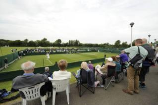 Agarrate las silletas plegables y mirate la Qualy de Wimbledon, nomá.