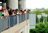 Buscando a quien escupir en el balcón del US Open