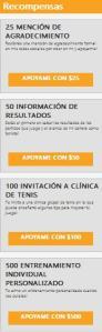 recompensas TennisHero
