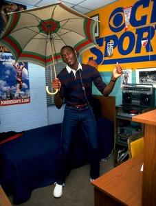 Michael Jordan en su habitación de la Universidad de Carolina del Norte, en 1983