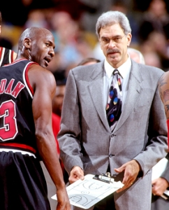 Chicago Bulls Michael Jordan and Phil Jackson 1997